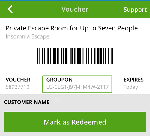 Escape Room Groupon